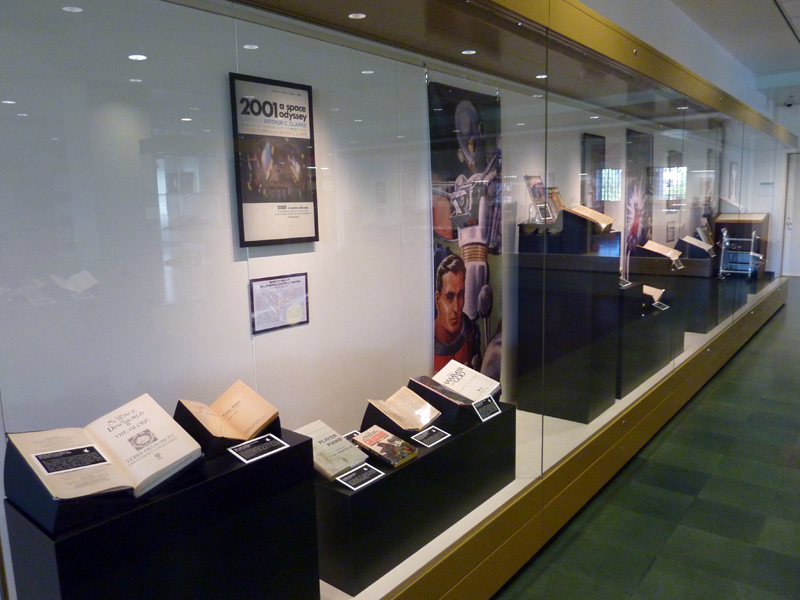 Case along the exhibit gallery's east wall.