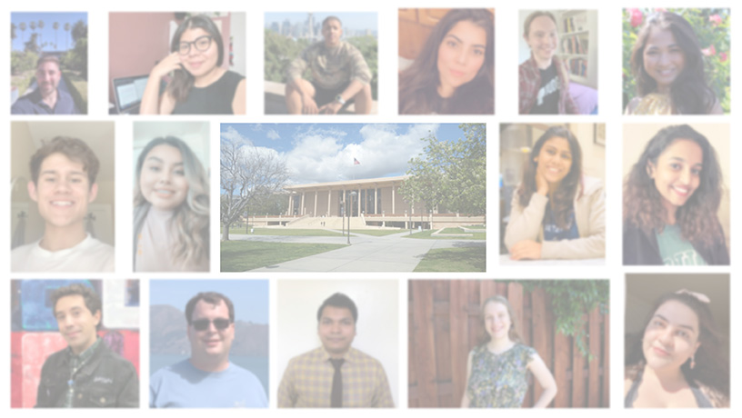 collage of student photos