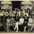Group photograph outside Dental School, ca. 1930