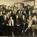 Group photograph of dental school classroom, ca. 1930