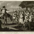 Twelve Large Illustrations for Samuel Butler's Hudibras: Plate 3 - Hudibras' First Adventure - engraved by Thomas Cook, February 1725. Dr. Leon Kolb William Hogarth Engravings Collection.