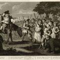 Twelve Large Illustrations for Samuel Butler's Hudibras: Plate 3 - Hudibras' First Adventure