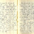 "Diary entry for February 8, 1942: ""We came to dinner & heard there are 4 ships off Manning Point now …"""