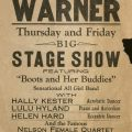 Concert flyer for a stage show featuring Boots and Her Buddies.