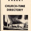 Church-time directory, 1960, San Fernando Women's Club Collection