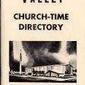 Church-time directory, 1960, San Fernando Women's Club Collection