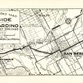 Automobile Road Map from Riverside to San Bernardino