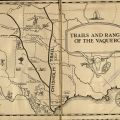 Map printed on end papers, A Vaquero of the Brush Country