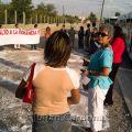 "Anti-violence protest. Signs, ""Alto a la Violencia"" (Stop the Violence), Juárez, 2008"