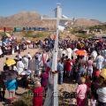 Binational Mass at border fence at US/ Mexico border, 2007