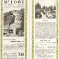 Advertisement for electric tram tours of Mt. Lowe