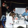 CSUN faculty and staff in temporary quarters following the earthquake, 1994