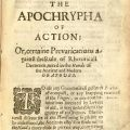 The Apochrypha of Action