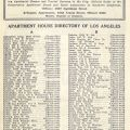 Los Angeles Guide and Apartment House Directory booklet, June 1928.