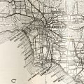 A map of Los Angeles in 1929, taken from Los Angeles County California Today. California Tourism and Promotional Literature Collection