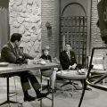 Gubernatorial candidate Ronald Reagan on the set of Patio Politics, circa 1966