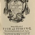 Facsimile of original title page from The Compleat Angler.
