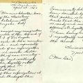 Resignation letter from Norma Woods