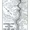 Automobile Road from Redlands to Pine Knot Lodge and Bear Lake San Bernardino County, Pine Knot Big Bear Lake brochure, 1913. California Tourism and Promotional Literature Collection