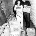Saint Simon's Episcopal Church food distribution event, 1983, Robert and Betty Franklin Collection