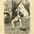 Holland's example of how to hold the guitar, nearly identical to images in Carcassi's book