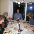 Photograph of the Mulholland Family Thanksgiving dinner in 2006, Catherine Mulholland Collection