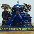 Collectible 100th anniversary Batman figurine.