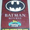 Collectible Batman trading card.
