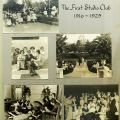 "Hollywood Studio Club scrapbook page, photographs of ""First Studio Club 1916-1925""."