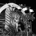 Diana Del Toro dressed as the Virgin of Guadalupe, December 12, 1987, Robert and Betty Franklin Collection