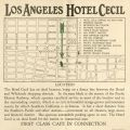 Map in Hotel Cecil brochure, circa 1925.