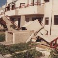 Dormitory staircases at CSUN immediately after the earthquake, 1994