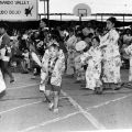 Children during a fan dance at the Obon Odori, July 31, 1983, Robert and Betty Franklin Collection