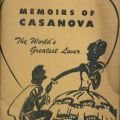 Cover of Memoirs of a Cassanova: The World's Greatest Lover. Emanuel Haldeman-Julius Little Blue Books Collection.