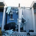 Exterior damage to the north side of the library