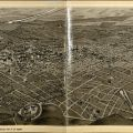 Album of Los Angeles & Vicinity, Aerial View Illustration
