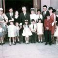 Family portrait on the 40th wedding anniversary of Antonio Regalado Calvo and Luz Mendez, 1966
