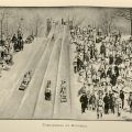 "Illustration of a toboggan race from ""The Badminton Library of Sports and Pastimes: Skating,"" London: Longmans, Green, and Co., 1892: 388. (GV 841 H43 1892)"