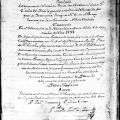 Baptism register, 1797