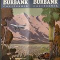 Cover of pamphlet produced by the Burbank Chamber of Commerce, circa 1932.