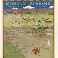 Centerfold map produced by the Burbank Chamber of Commerce, circa 1932.