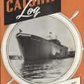 Cover, Calship Log, featuring the SS Thomas Paine, launched October 26, 1941