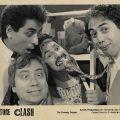 Photograph from Culture Clash's first photo shoot, from left to right: Richard Montoya, José Antonio Burciaga, Ric Salinas, and Herbert Sigüenza, 1984.