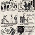 "Storyboard for a proposed film of ""The Mission."""