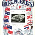 Front cover of anti-Semitic newspaper, Herald of Our Race, Volume 2, issue 4, April 1938. Jewish Federation Council of Greater Los Angeles, Community Relations Committee Collections.