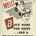 """""""Welcome Home"""" brochure cover, 1945"""