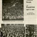 """Jewish War Veterans """"Veterans' Parade for Palestine"""" clipping from The New York Press, April 4, 1948"""