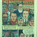 """Color illustrated cover reprinted from """"True Comics"""" magazine. Feature based on the pamphlet """"The Races of Mankind"""" by Ruth Benedict and Gene Weltfish, 1944.."""