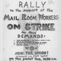 Flyer, Industrial Workers of the World in support of mail room strike at CSUN
