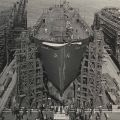 Launch day for the S.S. Paul Revere, December 21, 1945
